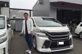 新車ヴェルファイア 大阪府のO様納車